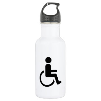 Wheelchair handicaped icon water bottle