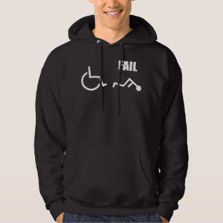 wheelchair handicapped fail pwned owned hooded sweatshirts