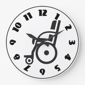 Wheelchair Icon Clock