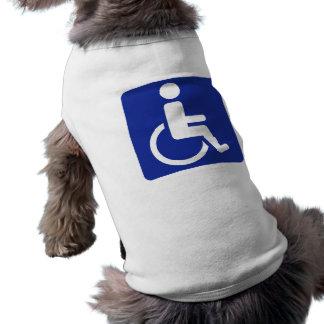 Wheelchair icon doggie tee shirt