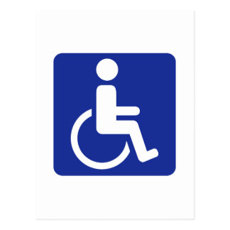 Wheelchair icon postcard