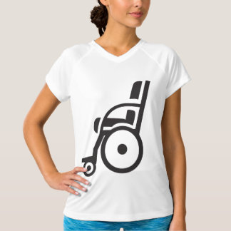 Wheelchair Icon Womens Active Tee