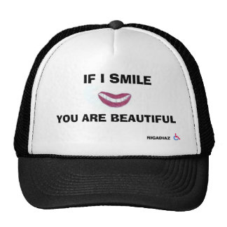 wheelchair, IF I SMILE, ... Trucker Hat