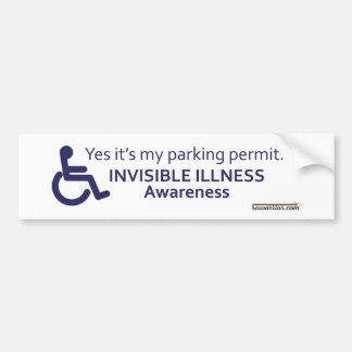 Wheelchair Invisible Illness Bumper Sticker