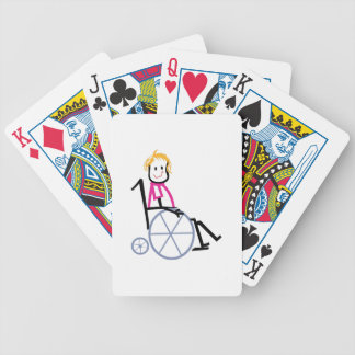 Wheelchair Kid Bicycle Playing Cards