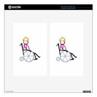 Wheelchair Kid Decal For Kindle Fire