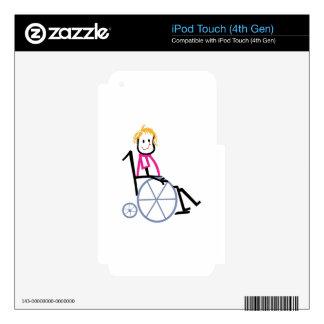 Wheelchair Kid iPod Touch 4G Decals