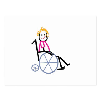 Wheelchair Kid Postcard