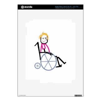 Wheelchair Kid Skins For iPad 3