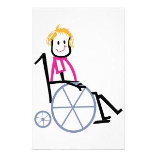 Wheelchair Kid Stationery