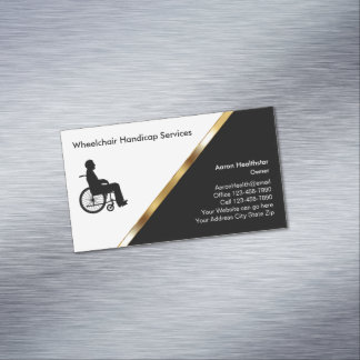 Wheelchair Medical Business Card Magnets