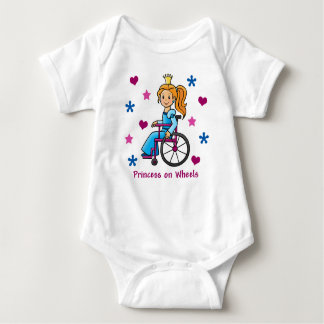 Wheelchair Princess Baby Bodysuit