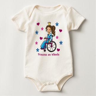 Wheelchair Princess Baby Bodysuit