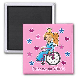 Wheelchair Princess Fridge Magnet
