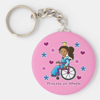 Wheelchair Princess Keychain