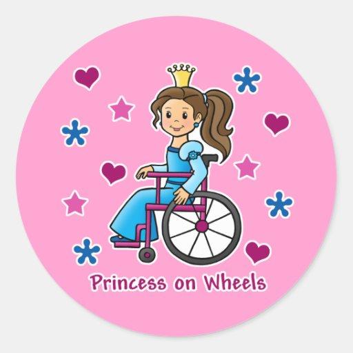 Wheelchair Princess Sticker