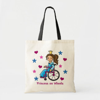 Wheelchair Princess Tote Bag