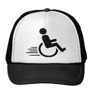 Wheelchair racing hat