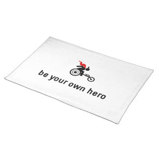Wheelchair Racing Hero Cloth Placemat