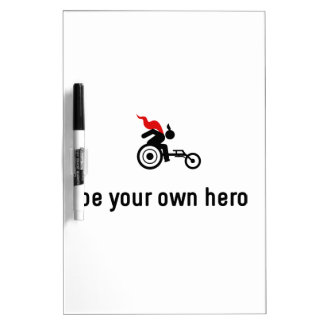 Wheelchair Racing Hero Dry-Erase Board