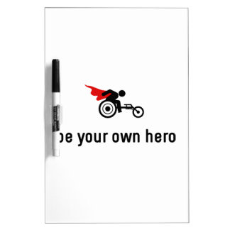Wheelchair Racing Hero Dry Erase Board