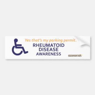 Wheelchair Rheumatoid Disease Bumper Sticker