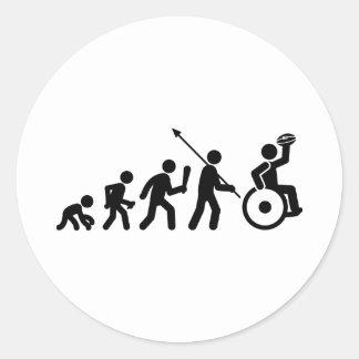 Wheelchair Rugby Classic Round Sticker