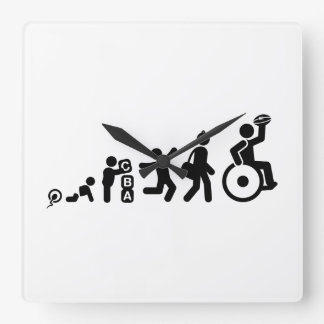 Wheelchair Rugby Square Wallclock