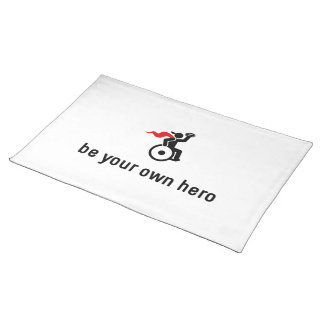 Wheelchair Rugby Hero Cloth Placemat
