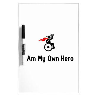 Wheelchair Rugby Hero Dry-Erase Board
