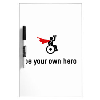 Wheelchair Rugby Hero Dry Erase Board