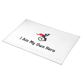 Wheelchair Rugby Hero Placemat