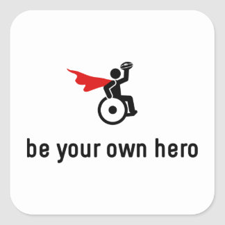 Wheelchair Rugby Hero Square Sticker