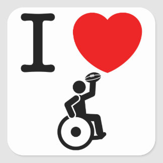 Wheelchair Rugby Square Sticker
