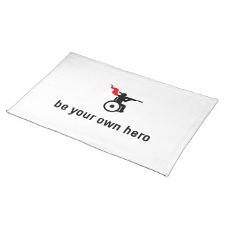 Wheelchair Shooting Hero Cloth Placemat