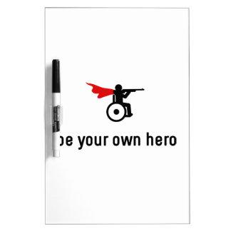 Wheelchair Shooting Hero Dry Erase Board