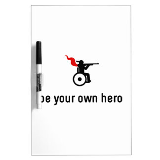 Wheelchair Shooting Hero Dry-Erase Board