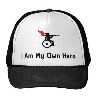 Wheelchair Shooting Hero Trucker Hat