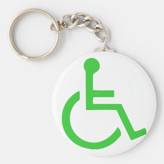 Wheelchair Symbol Keychain
