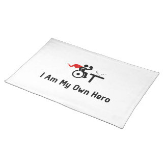 Wheelchair Table Tennis Hero Cloth Placemat