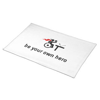 Wheelchair Table Tennis Hero Placemat