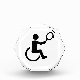 Wheelchair tennis acrylic award