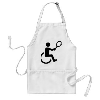 Wheelchair tennis adult apron