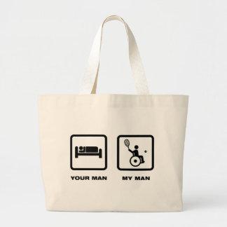 Wheelchair Tennis Tote Bag