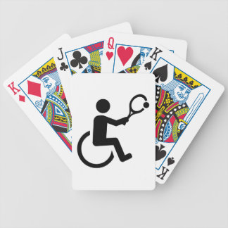 Wheelchair tennis bicycle playing cards