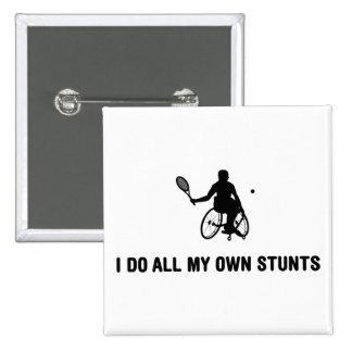 Wheelchair Tennis Pinback Button