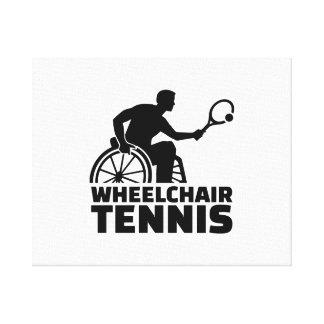 Wheelchair tennis canvas print