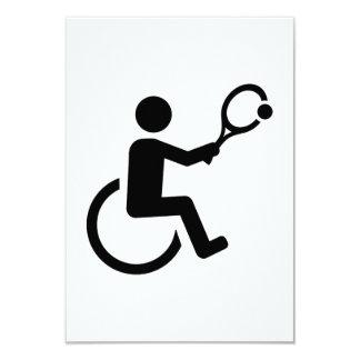 Wheelchair tennis card