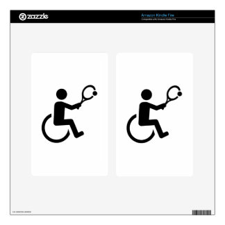 Wheelchair tennis decals for kindle fire