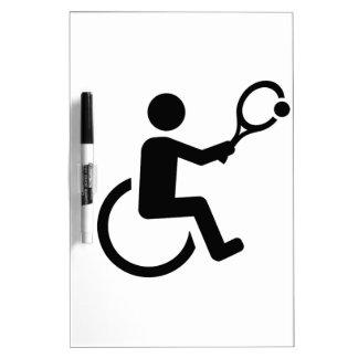 Wheelchair tennis Dry-Erase board
